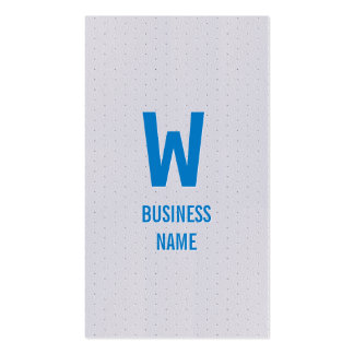 Moderne blaue Monogramm-Programmierer-Visitenkarte Visitenkarten