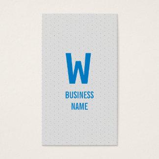 Moderne blaue Monogramm-Zahnarzt-Visitenkarte Visitenkarte