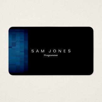 Moderne blaue Pixel-Visitenkarte Visitenkarte