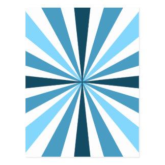 Moderne blaue Streifen Postkarte