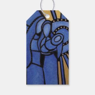 Moderne blaue WeihnachtsGeburt Christi Jesus Mary Geschenkanhänger