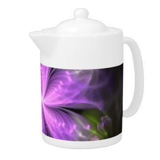 Moderne Blumen-Fraktalmandala-Teekanne