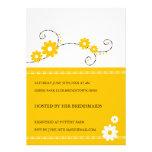 Moderne BlumenBrautparty-Einladungen - Gelb