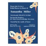 Moderne BlumenBrautpartyeinladungen:: Marine-Blau Personalisierte Einladung