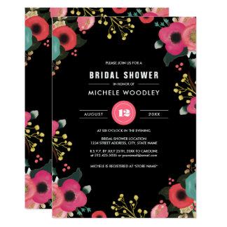 Moderne Blumenentwurfs-Brautparty-Einladungen Karte