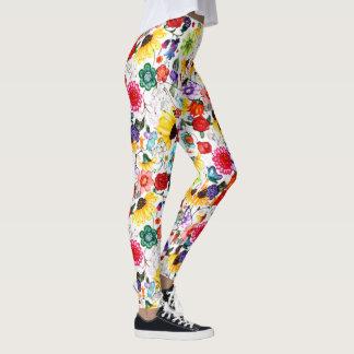 Moderne Blumengamaschen Leggings