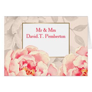 Moderne BlumenPlatzkarten hochzeit der hübschen Karte