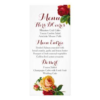 Moderne böhmische kundenspezifische Menü-Hochzeit Individuelle Werbekarte