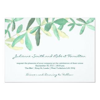 Moderne botanische Grün-Hochzeits-Einladung Karte