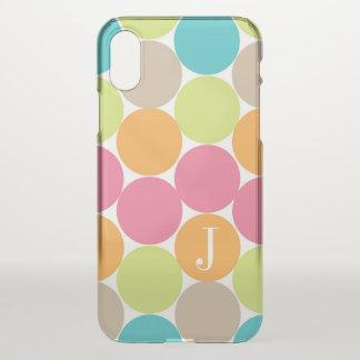 Moderne bunte Punkte personalisiert iPhone X Hülle