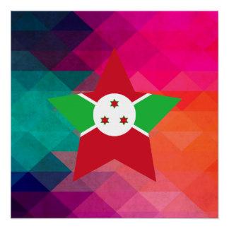 Moderne Burundi-Flagge Perfektes Poster