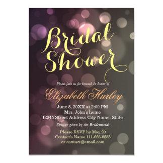 Moderne Chic-Glitter Bokeh Brautparty-Einladung Karte