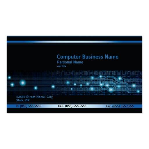 Moderne Computer-Geschäfts-Visitenkarte