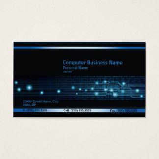 Moderne Computer-Geschäfts-Visitenkarte Visitenkarte