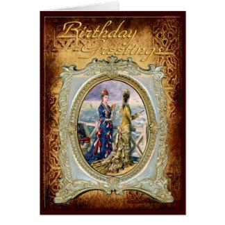 Moderne Damen in einer Rahmen-Geburtstags-Karte Karte