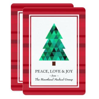 Moderne Diamant-geometrische Baum-Feiertags-flache Karte