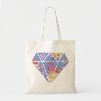 Moderne Diamantform der Blumenmuster Tragetasche