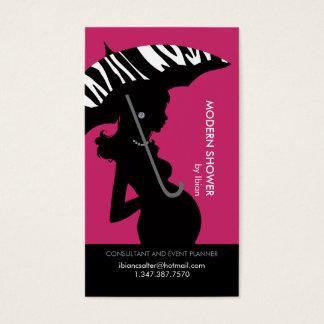 Moderne Dusche in der rosa Visitenkarte