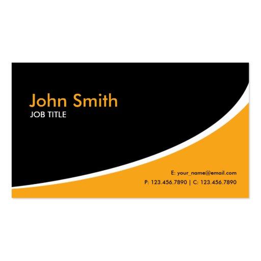 Moderne einfache einfache High-Teche Orange Visitenkarte