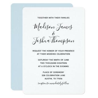 Moderne | einfache Eleganz Wedding | Karte