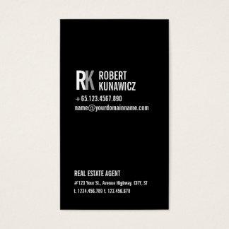 Moderne einfache schwarze u. weiße Karte