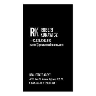 Moderne einfache schwarze u weiße Karte Visitenkarten Vorlage