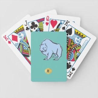 Moderne, einfache u. schöne Hand gezeichneter Bicycle Spielkarten