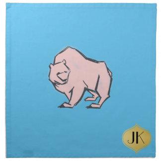 Moderne, einfache u. schöne Hand gezeichneter rosa Serviette