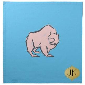 Moderne, einfache u. schöne Hand gezeichneter rosa Stoffserviette