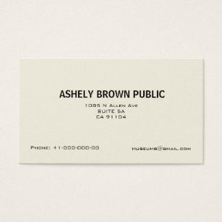 Moderne einfache weiße unbedeutende Visitenkarte