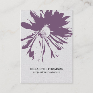 Modern Elegant Floral Texture Purple Cosmetologist