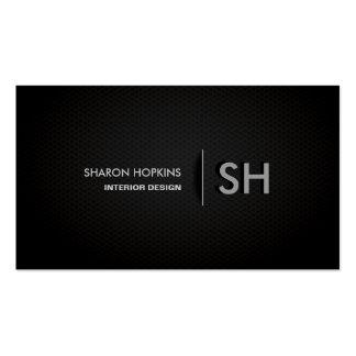 Moderne elegante einfache einfache Schwarze Visitenkarten
