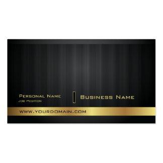 Moderne elegante goldene einfache Visitenkarte