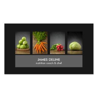Moderne elegante Nahrungs-Kochs-Geschäfts-Karte Visitenkarten