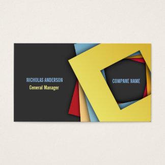 Moderne elegante quadratische Formen Visitenkarte