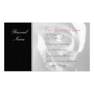 Moderne elegante weiße BrautRose auf Schwarzem Visitenkarten Vorlagen