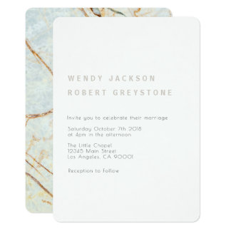 Moderne Erdmarmor-Hochzeits-Einladung Karte