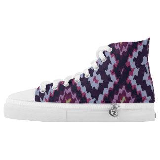 Moderne ethnische blaue dominierende Schuhe der