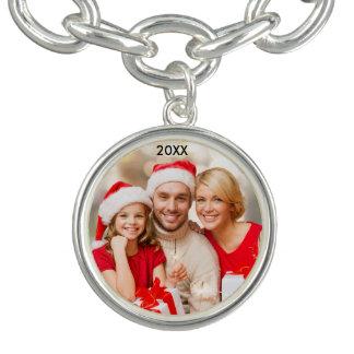 Moderne Familien-elegantes Foto-Weihnachtsarmband Armband