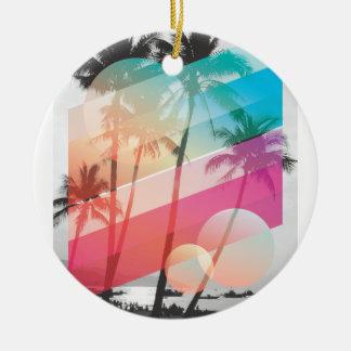Moderne Farbe stripes Kokosnussbaumhintergrund Keramik Ornament