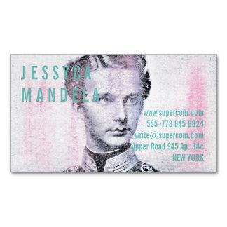 Moderne Farben Visitenkartenmagnet