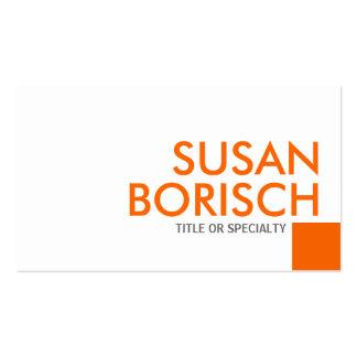 Moderne Farbunbedeutende weiße orange Visitenkarte