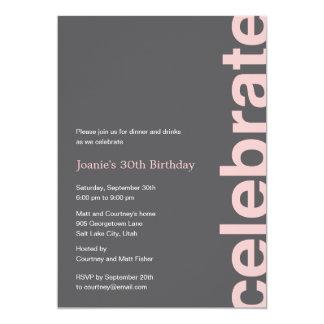 Moderne Feier-Party Einladung - Rosa