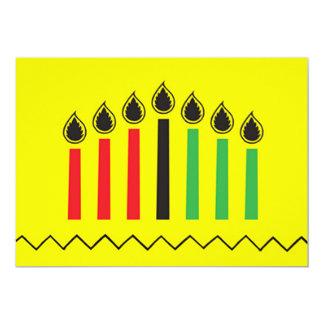 Moderne Feiertags-Party Einladungen Kwanzaas