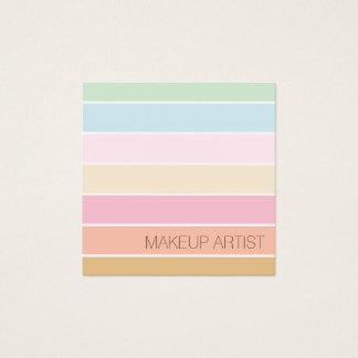 moderne feine Farbpastellpaletten-Maskenbildner Quadratische Visitenkarte