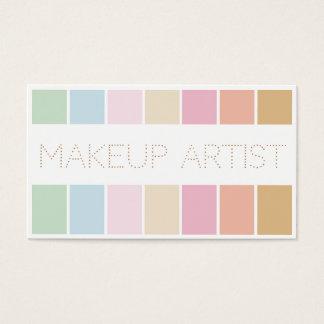moderne feine Farbpastellpaletten-Maskenbildner Visitenkarte