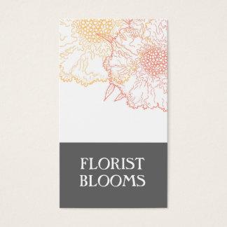 Moderne Floristen-Visitenkarte-graues orange Rot Visitenkarte