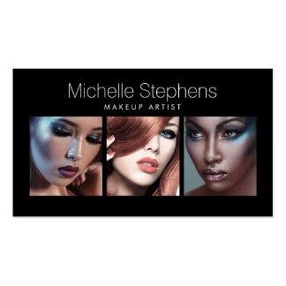 Moderne Foto-Karte für Make-upkünstler, Stylisten Visitenkarten