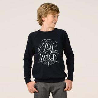 Moderne Freude zur Weltweihnachtstafel Sweatshirt