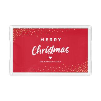 Moderne frohe Weihnachten Acryl Tablett